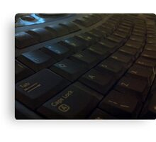 Keyboard by Carrie Canvas Print