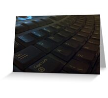 Keyboard by Carrie Greeting Card