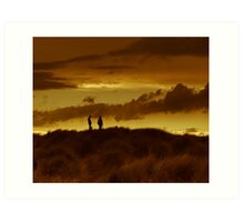 Dune silouhette Art Print