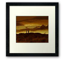Dune silouhette Framed Print