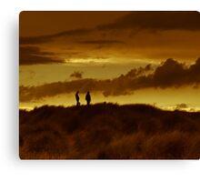 Dune silouhette Canvas Print