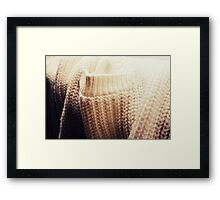 Materials - Woll. Framed Print