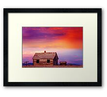 Little House On The Prairie Colorful Colorado Country Sunset Framed Print
