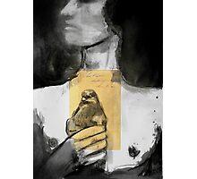 figure with bird Photographic Print
