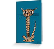 Mr Stripey Greeting Card