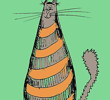 Orange Stripey Cat by annathesinger