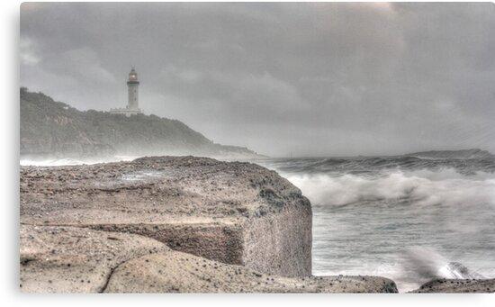 Misty Morning Lighthouse by Tam  Locke