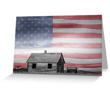 Rustic America Greeting Card