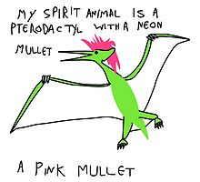 Pterodactyl With Mullet Spirit Animal by supersoup