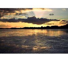 A January Sunset Photographic Print