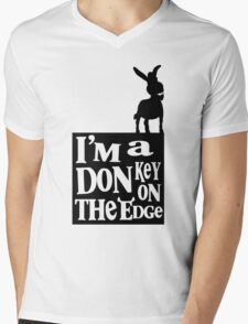 I'm a donkey on the edge! Mens V-Neck T-Shirt