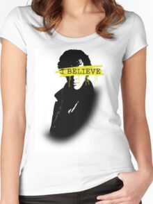 I BELIEVE IN SHERLOCK HOLMES Women's Fitted Scoop T-Shirt