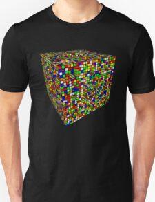 Rubik Menger Sponge, three iterations. Resistance is futile. Unisex T-Shirt
