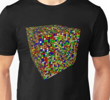 Rubik Menger Sponge, three iterations. Resistance is futile. Unisex T-Shirt