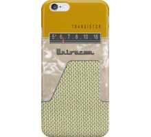 Vintage Transistor Radio - Gold iPhone Case/Skin