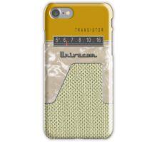 Vintage Transistor Radio - Gold iPhone Case/Skin