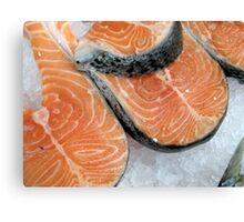 Delicious fresh salmon Canvas Print