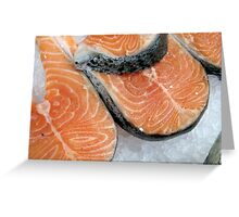 Delicious fresh salmon Greeting Card