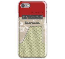 Vintage Transistor Radio - Red iPhone Case/Skin