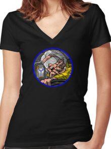 Time Travel Racer 2 Doc Version Women's Fitted V-Neck T-Shirt
