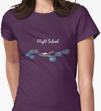 Coast Guard Flight School Womens Fitted T-Shirt