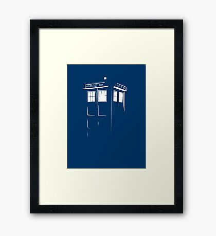 Tardis Outline Framed Print