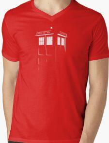 Tardis Outline Mens V-Neck T-Shirt