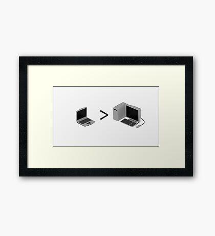 Laptop > Desktop Framed Print