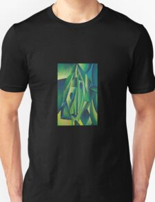 Cubist Abstract Of Village Woman Wearing A Headscarf T-Shirt