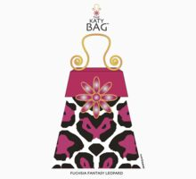 The Katy Bag / Fuchsia Fantasy Leopard by Susan R. Wacker