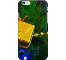 Christmas Gold Tree Decoration iPhone Case/Skin
