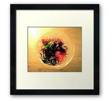 Bramble Cocktail Framed Print