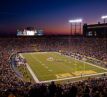 Lambeau at Sunset (no watermark) by ChadLarsonPhoto