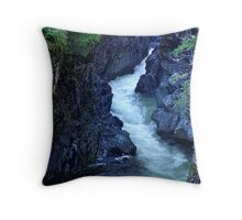 Sooke River Gorge Throw Pillow