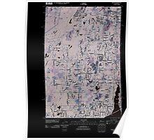 USGS Topo Map Washington State WA Burley 20110422 TM Inverted Poster