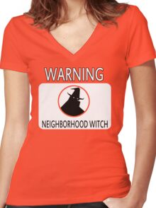 Neighborhood Witch Women's Fitted V-Neck T-Shirt