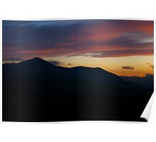 Skiddaw And The Setting Sun-  Lake District, Cumbria, Uk. Poster