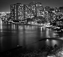 2012 Waikiki Beach, Honolulu HI   B&W by RedDash