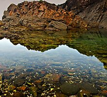 Fingal Bay Pool Reflections by bazcelt