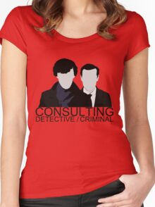 Consulting Detective/Criminal Women's Fitted Scoop T-Shirt