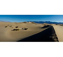 Mesquite Sand Dunes Panorama - Death Valley National Park, California Photographic Print