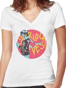 Sherlock Lives Women's Fitted V-Neck T-Shirt