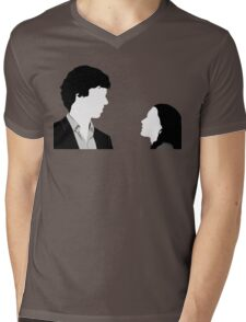 Sherlock And Irene Mens V-Neck T-Shirt