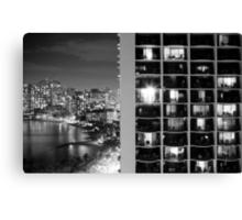 2012 Waikiki Beach, Honolulu HI | Night Living Canvas Print