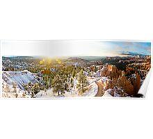 Amphitheater Sunrise Panorama, Bryce Canyon National Park - Utah Poster