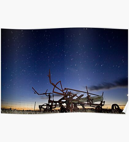 Disc Plow Sun Set Poster