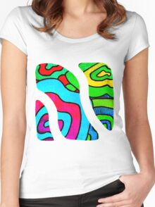 BINGE - Psychedelic artwork Women's Fitted Scoop T-Shirt
