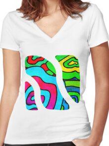 BINGE - Psychedelic artwork Women's Fitted V-Neck T-Shirt