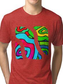 BINGE - Psychedelic artwork Tri-blend T-Shirt