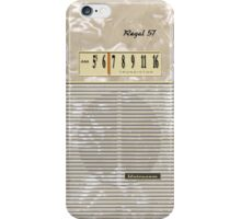 Vintage Transistor Radio - Regal 57 iPhone Case/Skin